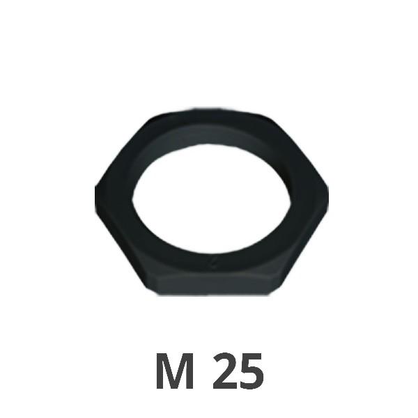 Gegenmutter M 25 schwarz