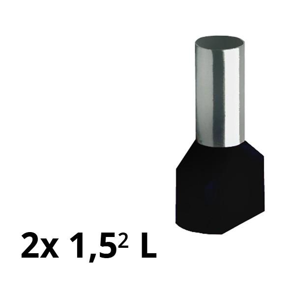 SIAM-Aderendhülse isol. 2x 1,5² L