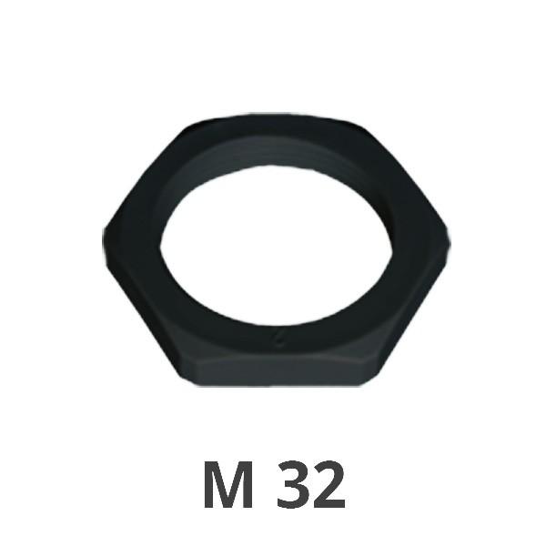 Gegenmutter M 32 schwarz