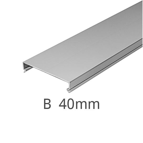 Deckel für Kanal F2000 Breite 40 mm