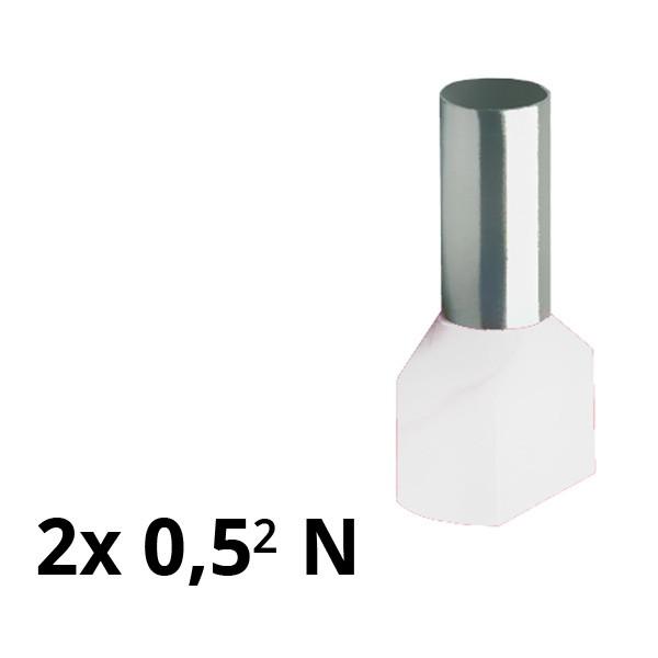 SIAM-Aderendhülse isol. 2x 0,5² N