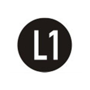 Sicherheitsschild L1 Ø=16 mm