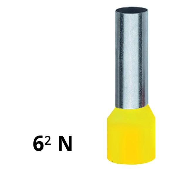 Aderendhülse isoliert 6² N