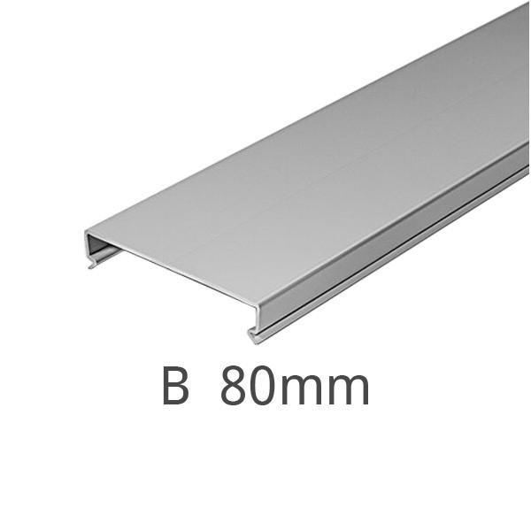Deckel für Kanal F2000 Breite 80 mm