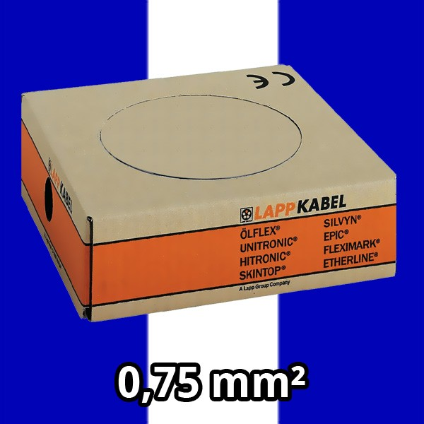 PVC- Einzeladern H05 V-K 0.75² dbl/ws