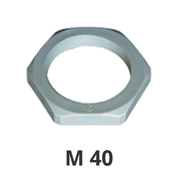 Gegenmutter M40 grau