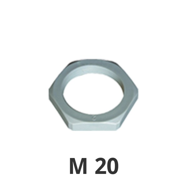 Gegenmutter M20 grau