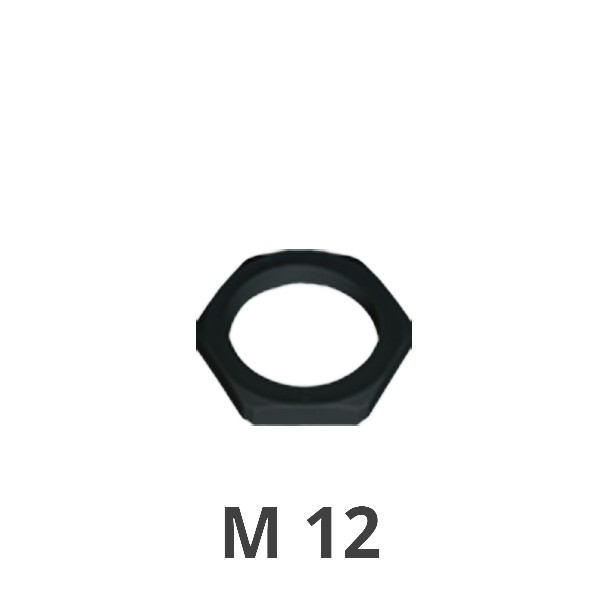 Gegenmutter M 12 schwarz