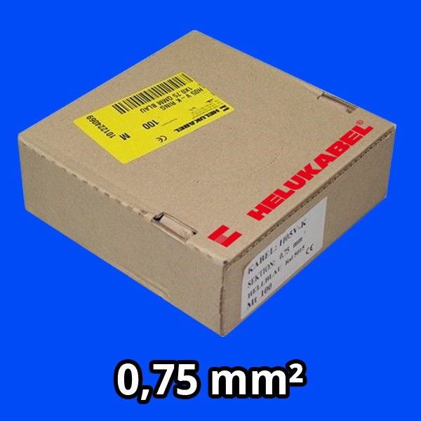 PVC- Einzeladern H05 V-K 0.75² blau