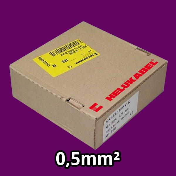 PVC- Einzeladern H05 V-K 0,5² violett