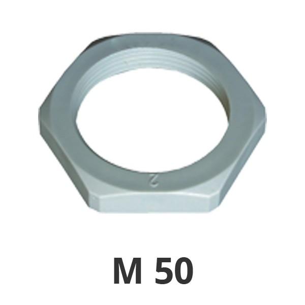 Gegenmutter M50 grau