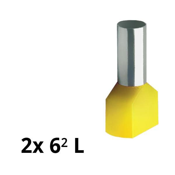 SIAM-Aderendhülse isol. 2x 6² L