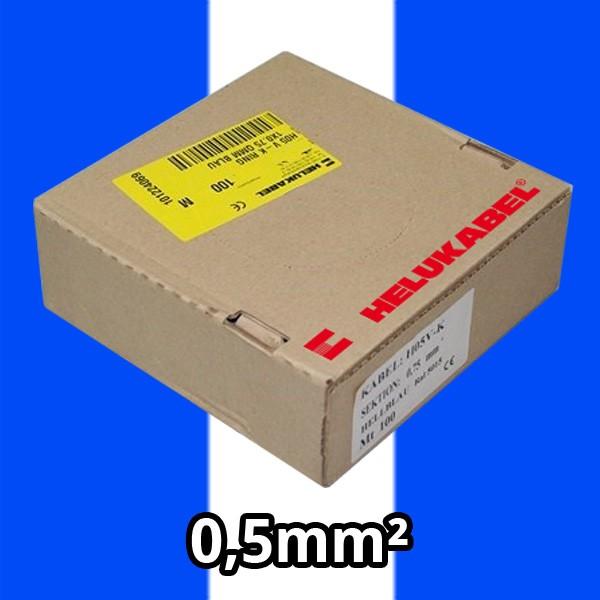 PVC- Einzeladern H05 V-K 0.5² bl/ws