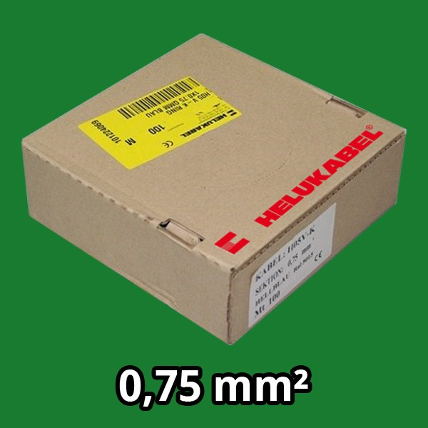PVC- Einzeladern H05 V-K 0.75² grün
