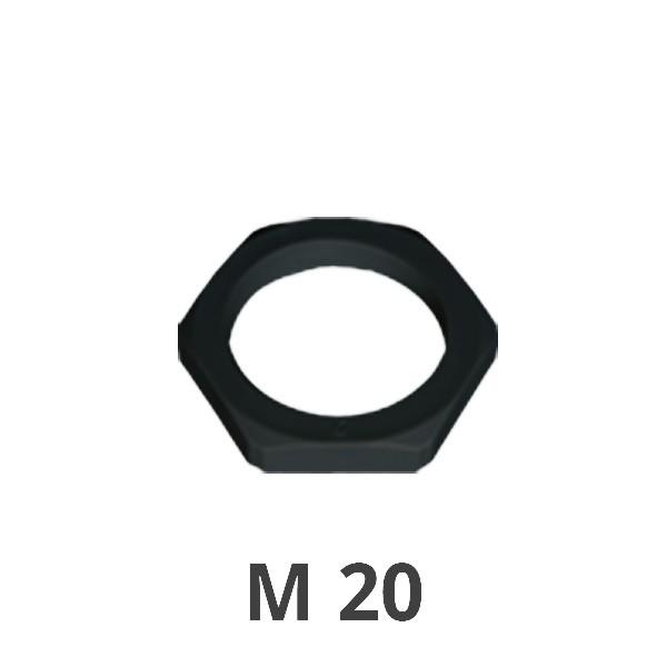 Gegenmutter M 20 schwarz