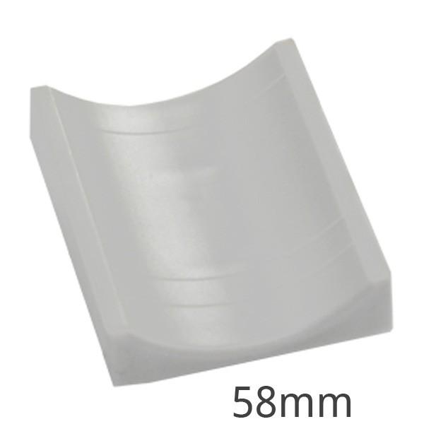 Gegenwanne für Bügelschelle 58 mm