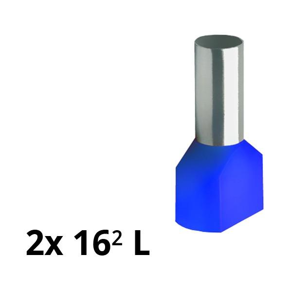 SIAM-Aderendhülse isol. 2x 16² L