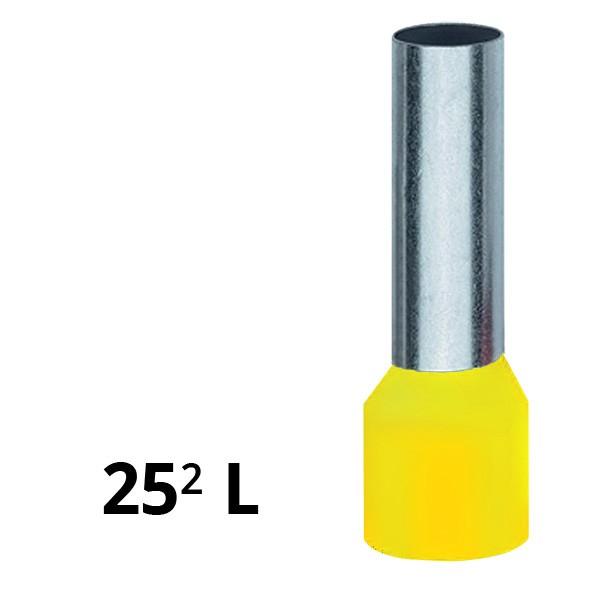 Aderendhülse isoliert 25² L