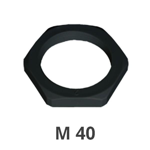 Gegenmutter M 40 schwarz
