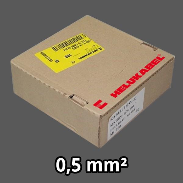 PVC- Einzeladern H05 V-K 0.5² grau