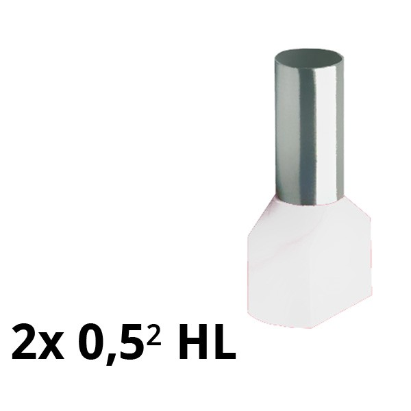 SIAM-Aderendhülse isol. 2x 0,5² HL