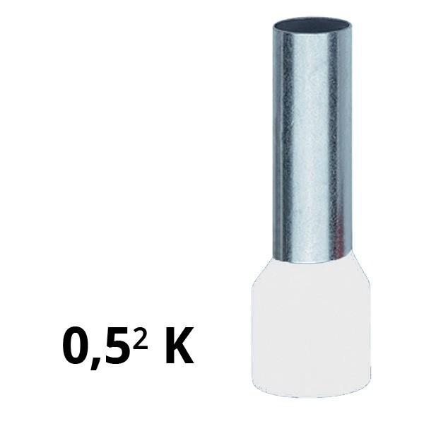 Aderendhülse isoliert 0,5² K