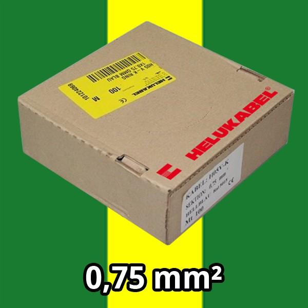 PVC- Einzeladern H05 V-K 0.75² gng