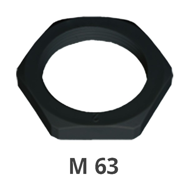 Gegenmutter M 63 schwarz