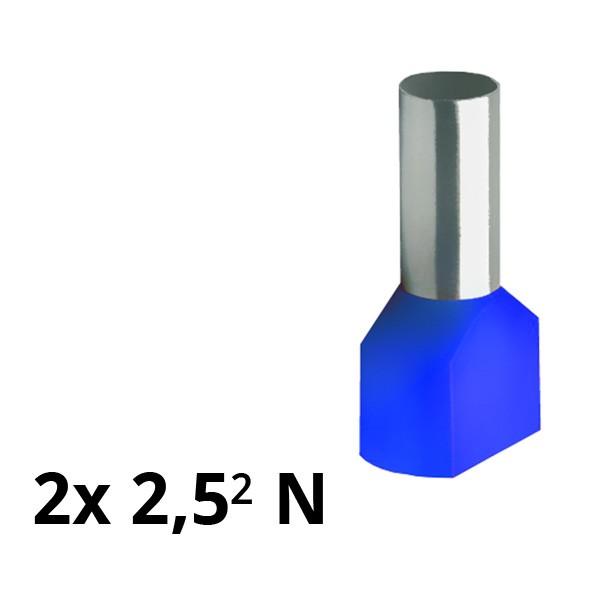 SIAM-Aderendhülse isol. 2x 2,5² N