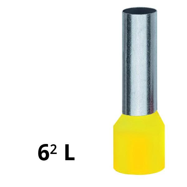 Aderendhülse isoliert 6² L