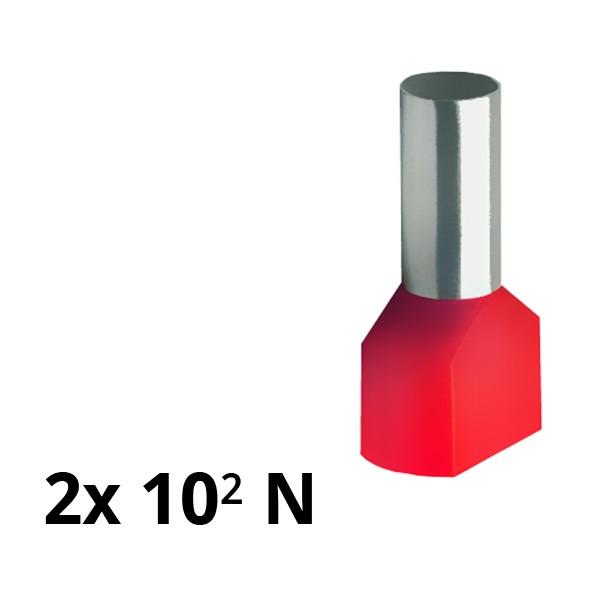 SIAM-Aderendhülse isol. 2x 10² N