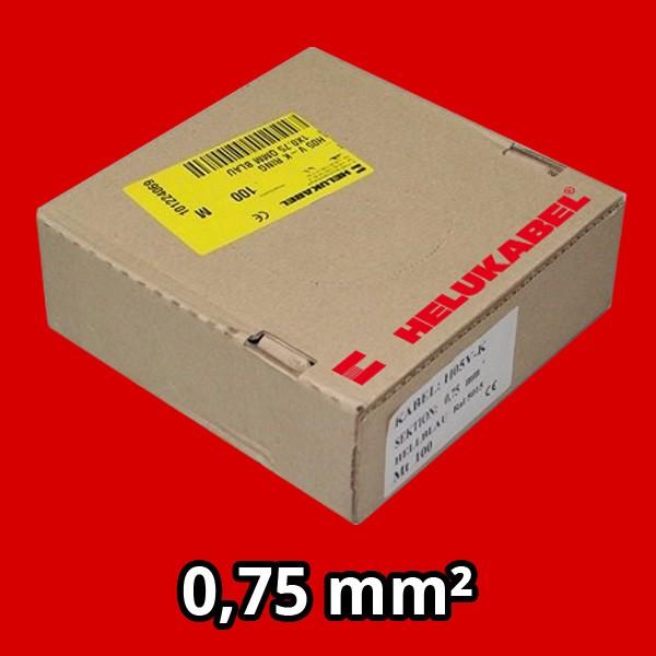 PVC- Einzeladern H05 V-K 0.75² rot