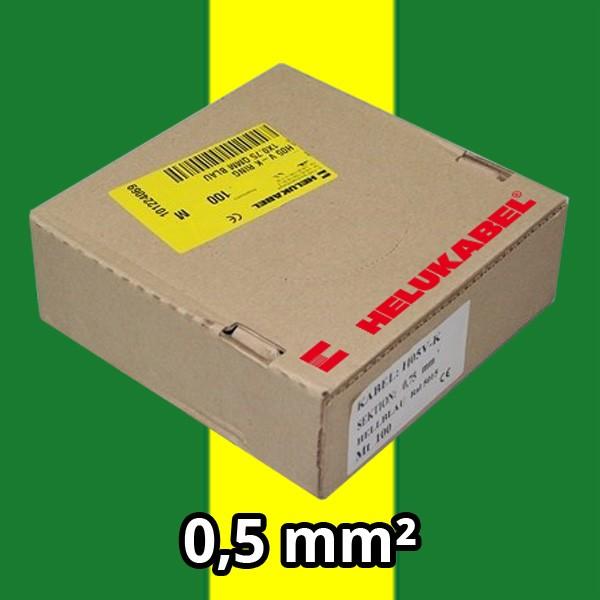 PVC- Einzeladern H05 V-K 0.5² gng