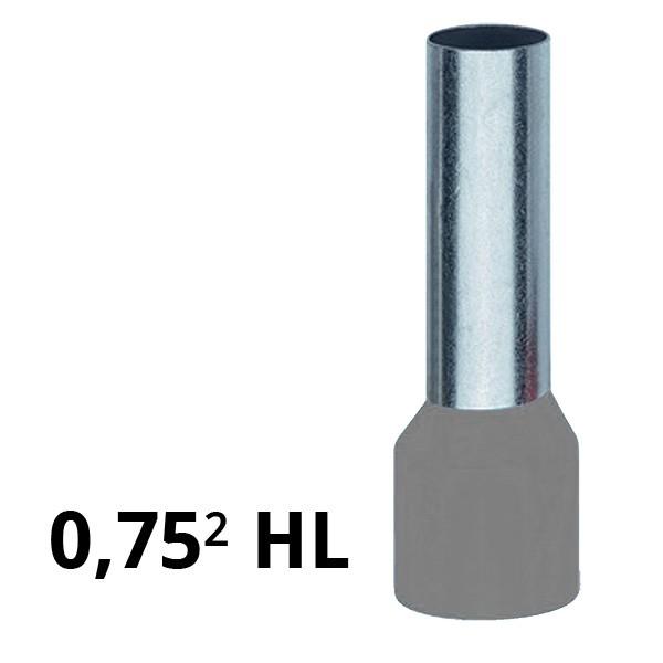 Aderendhülse isoliert 0,75² HL