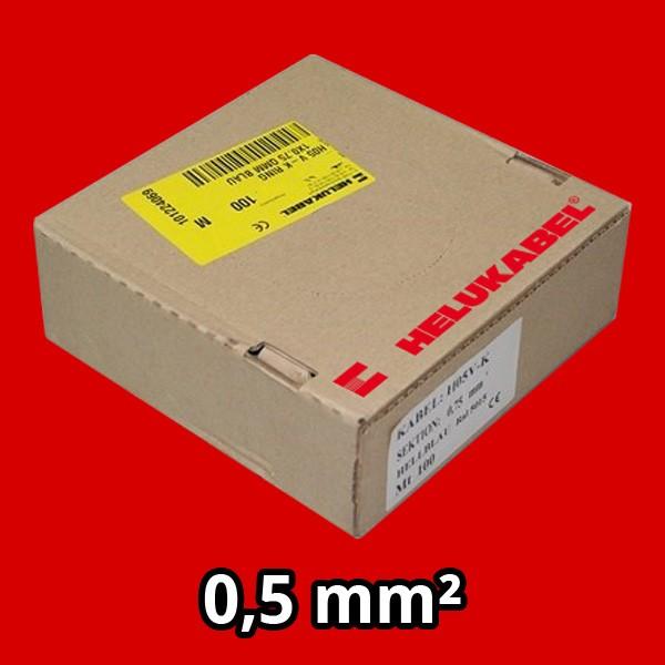 PVC- Einzeladern H05 V-K 0.5² rot