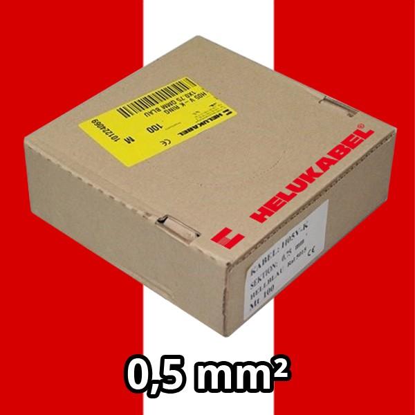 PVC- Einzeladern H05 V-K 0.5² rot/ws