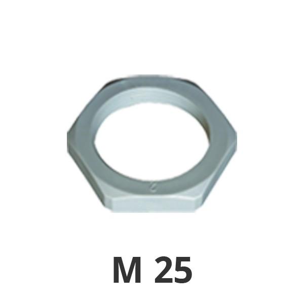 Gegenmutter M25 grau