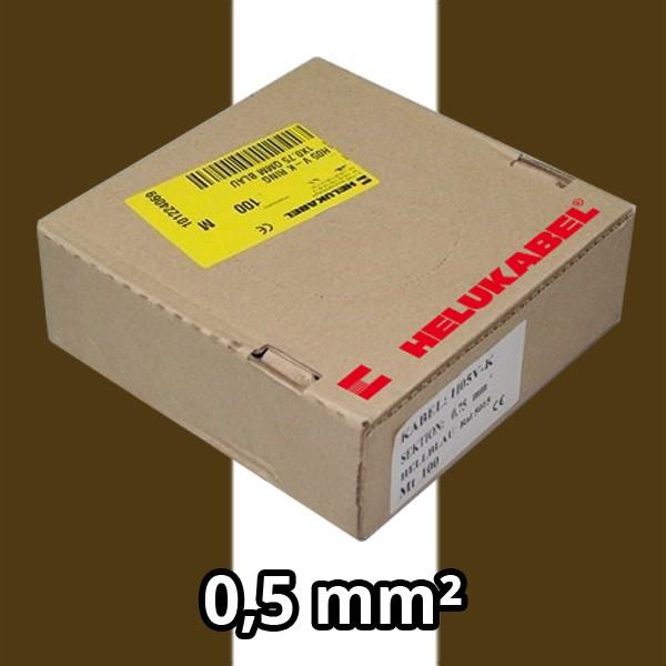PVC- Einzeladern H05 V-K 0.5² br/ws
