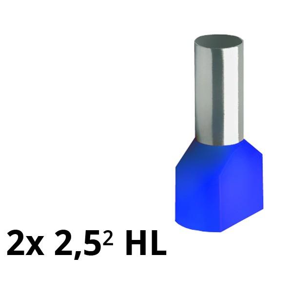SIAM-Aderendhülse isol. 2x 2,5² HL