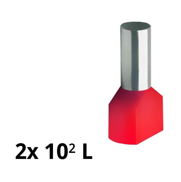 SIAM-Aderendhülse isol.2x 10² L