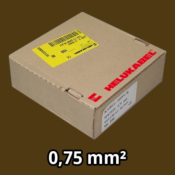 PVC- Einzeladern H05 V-K 0.75² braun