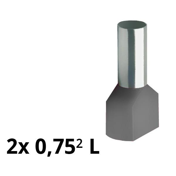 SIAM-Aderendhülse isol. 2x 0,75² L