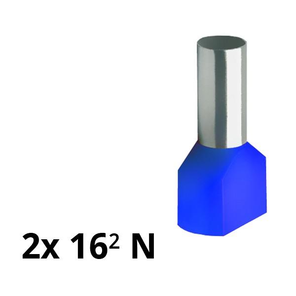 SIAM-Aderendhülse isoliert 2x 16² N