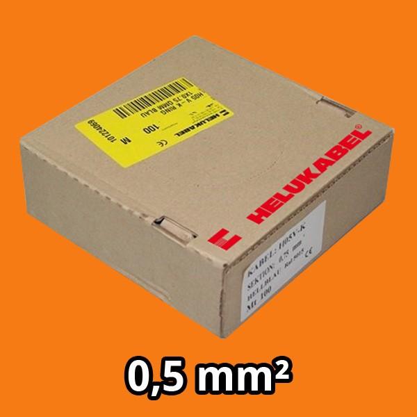 PVC- Einzeladern H05 V-K 0.5² orange