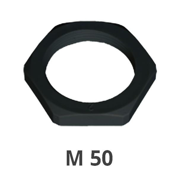 Gegenmutter M 50 schwarz