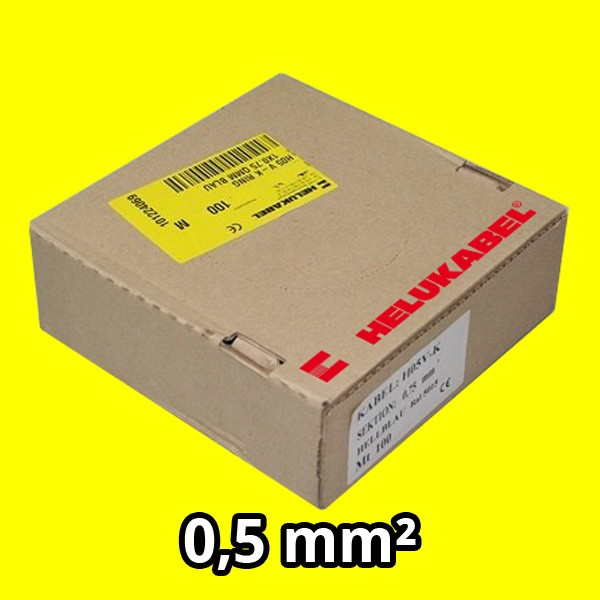 PVC- Einzeladern H05 V-K 0.5² gelb