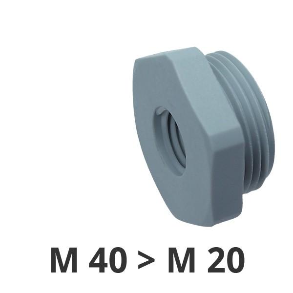 Reduzierungen M40x1,5/M20x1,5