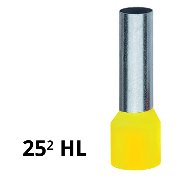 Aderendhülse isoliert 25² HL