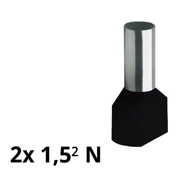 SIAM-Aderendhülse isol. 2x 1,5² N
