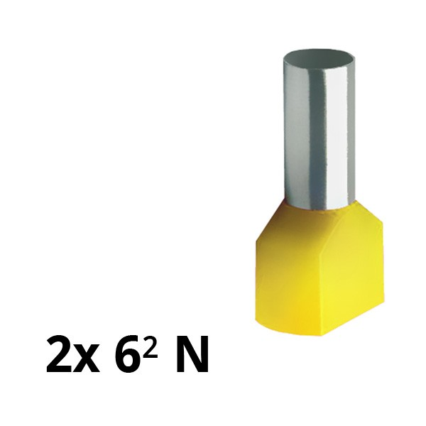SIAM-Aderendhülse isol. 2x 6² N